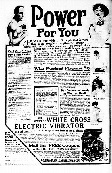 Pictured: Vibrator ad from 1913.
